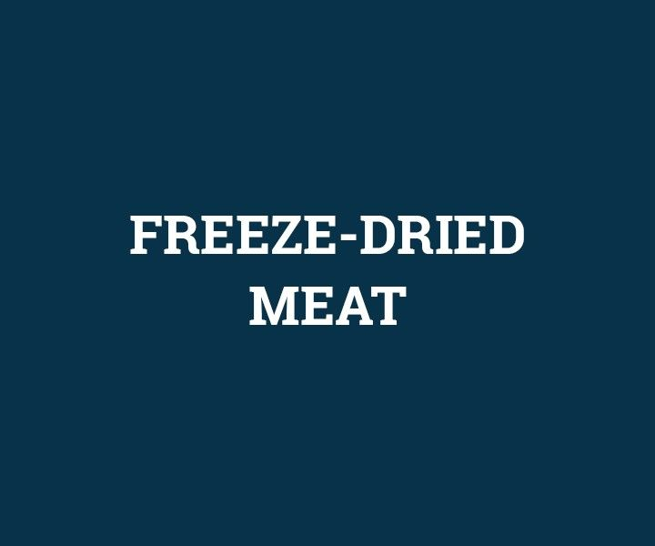 Freeze-dried meat
